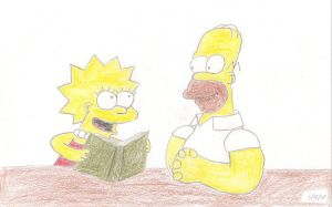 Homer and Lisa Moment 1 by MarioSimpson1