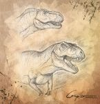 Some JP T. rex heads by c-compiler
