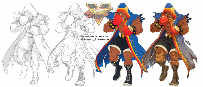 Street Fighter V-Balrog Process by HeavyMetalHanzo