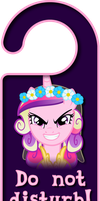 Evil Princess Cadence Door Knob Hanger by Thorinair