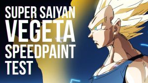 SSj2 Vegeta | Rough Speedpaint Test by moxie2D