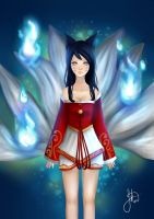 Ahri From League Of Legends UPDATED by fairydustshower