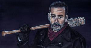 Negan The Walking Dead Acrylic Painting by Gothscifigirl