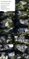 Unity : Pine Bushes pack by Nobiax