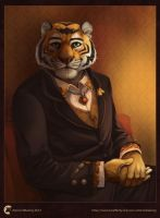 Partran painted bust commission 1 by Rhandi-Mask