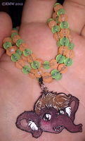 Glow-In-The-Dark D Necklace! by beefyrae