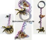 Eevee/Umbreon Evolution charms Keychain by RelentlessRepeat