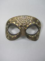Day of the Dead Gold Accented Leather Mask by maskedzone