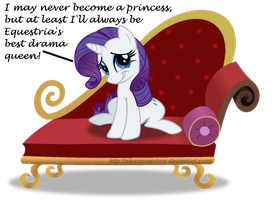 Drama Queen Rarity by AleximusPrime