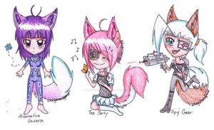 Out of this world Adoptables by forgottenlegend