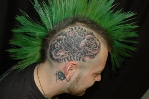 finished head tattoo by D66MSD6Y