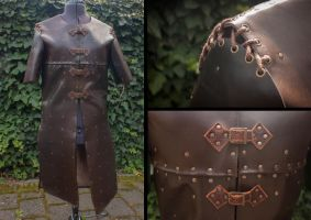 Leather armored surcoat by polychromical