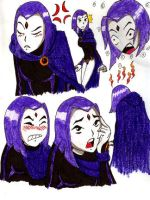 Raven expressions by Art-Gem