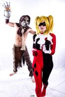 Scarecrow and Harley Quinn by Childishx