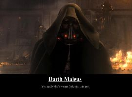 Darth Malgus Motivate Poster by MPZA