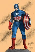 Capitain America by BacchiColorist