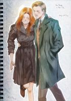 Doctor Who - The Ponds in the 30s NYC by oKaShira2