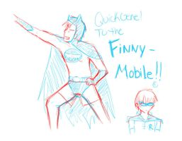 To the Finny-Mobile by evillittlecherry