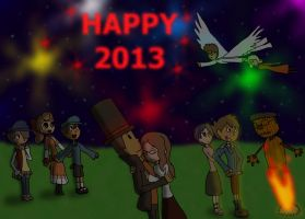 Happy New Year Professor Layton by GirlCrash97