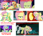 Angry Fluttershy Collage by Zukamexe