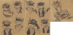 Sketches of Tennessee Kid Cooper by TheScarletDragon