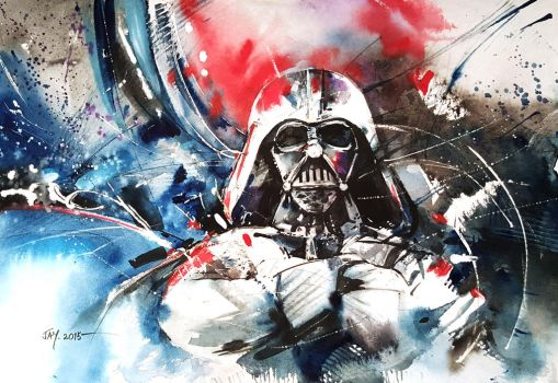 Darth Vader - Watercolour by Abstractmusiq