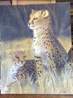 Leopards in the grass by anna-elizabeth