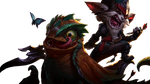 [League of Legends] Kled and Skaarl (Render) by PopokuPinguPop90
