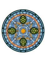 Sea Turtle Mandala Colored by Maiko-Girl