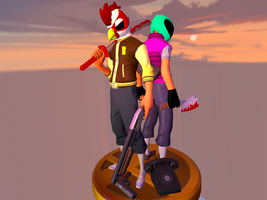 Jacket and Biker (TF2 Versions) (Five part story) by tf2redpie