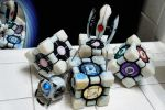 Portal Buddies (Wheatley, Turret, and Cubes) by ammnra