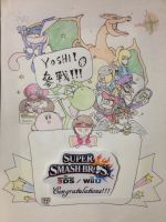 Hooray for yoshi! And else for joined SSB4! by DinoeArchelon