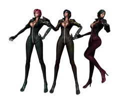 'Land of Chaos Online' Stella-Catsuit Pack XNA/XPS by lezisell