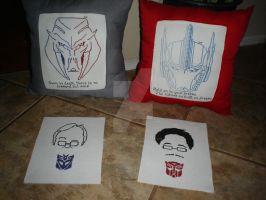 Gifts for Peter Cullen and Frank Welker by MNS-Prime-21