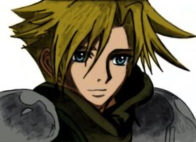 Cloud Strife Colored by Strifegirl