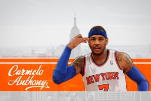 Carmelo Anthony wallpaper NYC by RafaelVicenteDesigns