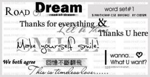 Word-set1 Brushes by cice0129