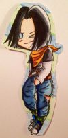 Android 17 Paperbaby! :3 by dbz-senpai