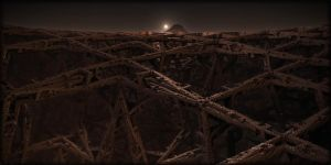 Structures on Mars by FractKali