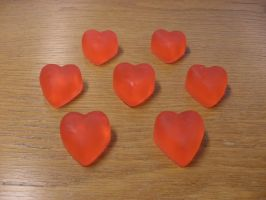 Red apple heart soaps by Gallerica