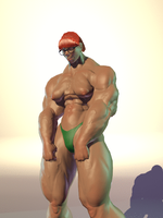 Double Flex (animated) by CliveUndertaker