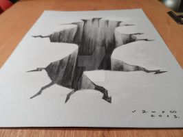 Drawing 3D Hole, High resolution by VamosArt