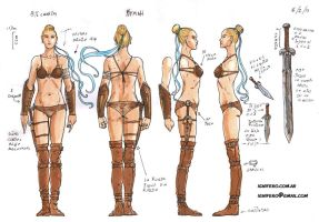 character sheets: full body Kymah by Ignifero