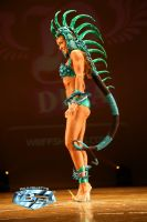 Blue Iguana Theme Wear Costume Side View by LuxCostumeDesign