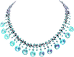 blue necklace by EnchantedWhispersArt