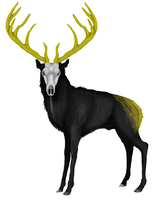 Crown of Golden Tines by wispwolf