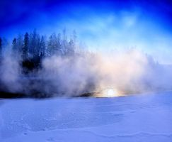 steaming river by KariLiimatainen