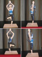 Wii Fit Trainer Sculpture by BThomas64