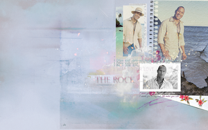 The Rock 1280x800 PSD by Fustro