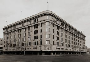 Hudson's Bay Company in Winnipeg Panorama by Joe-Lynn-Design